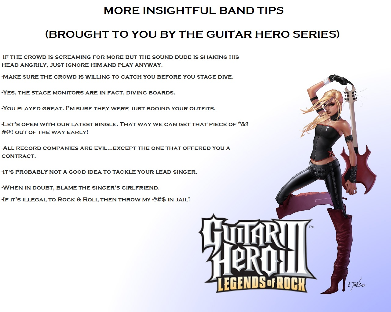 Guitar Hero Tips Part Two